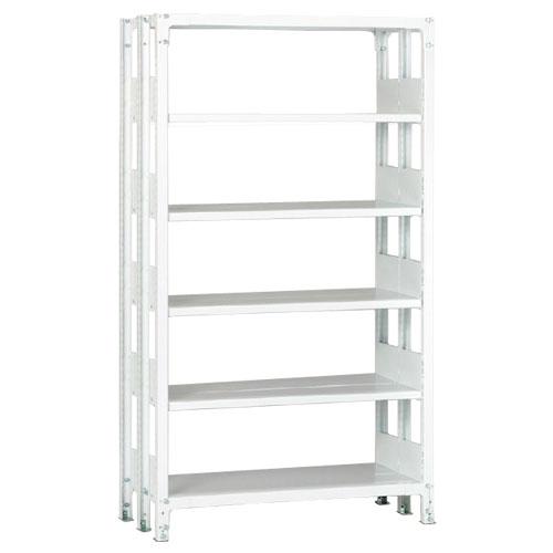 ホワイトラックKU軽量書棚 複式 単体棚 100kg/段の画像