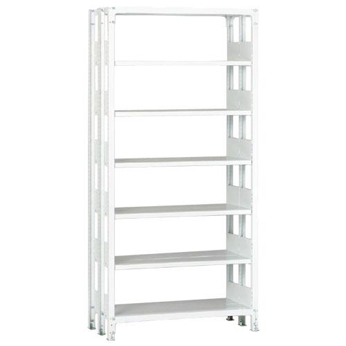 ホワイトラックKU軽量書棚 複式 単体棚 H2600mm 100kg/段の画像