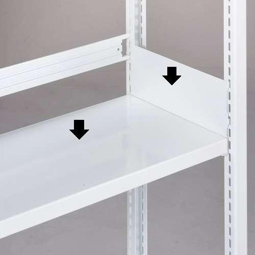 追加棚板(ホワイトラック軽量書棚KU 100kg/1段用)