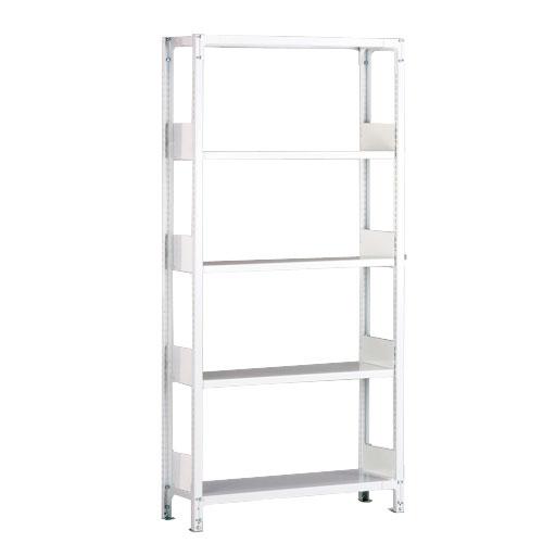 ホワイトラックKU軽量書棚 単式 単体棚 H1950mm 100kg/段の画像