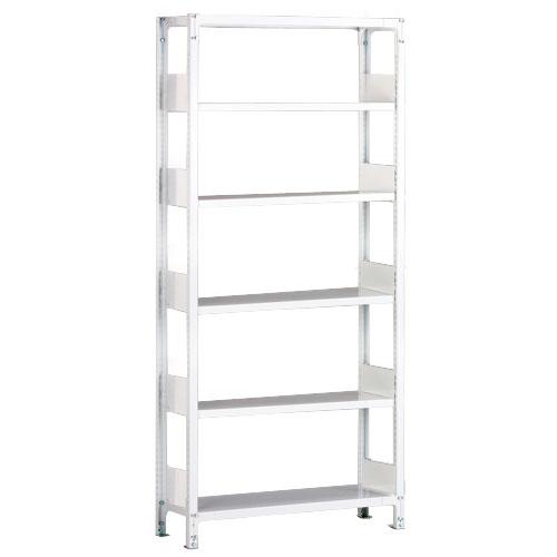 ホワイトラックKU軽量書棚 単式 単体棚 H2250mm 100kg/段の画像