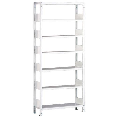 ホワイトラックKU軽量書棚 単式 単体棚 H2600mm 100kg/段の画像