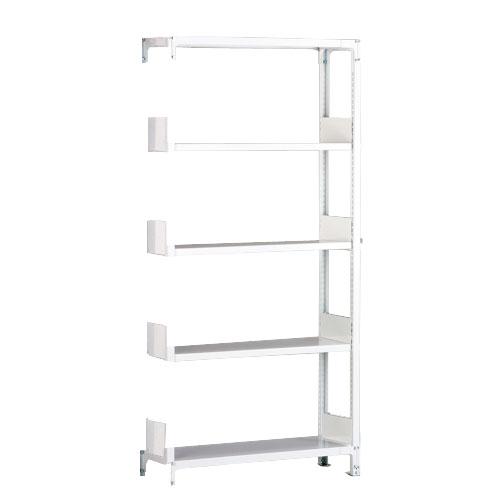 ホワイトラック軽量書棚KU 追加連結棚 単式