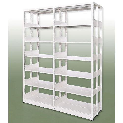 スチール書架(本棚・書棚)ホワイト色の画像