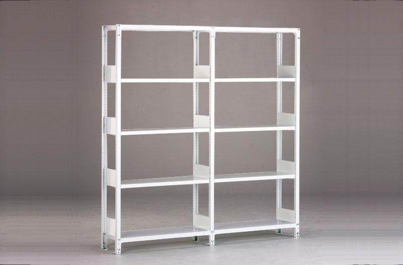 金剛製ホワイトラック軽量書棚KUの商品画像2