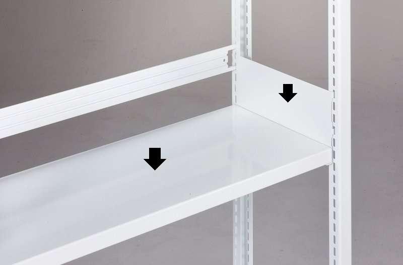 追加棚板 ホワイトラックKU軽量書棚 100kg/段の画像