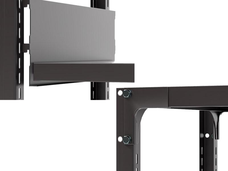 スチール書架 RKU 棚板・棚受け接合部、天板・アングル接合部の画像