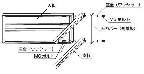 スチール書架組み立て工程2