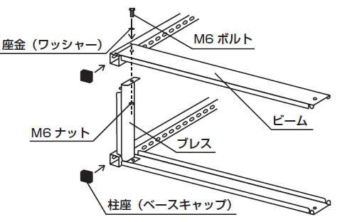 スチール書架組み立て工程3