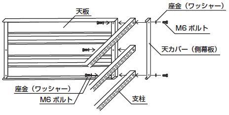 スチール書架(複式)組み立て工程5