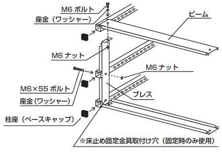 スチール書架(複式)組み立て工程6
