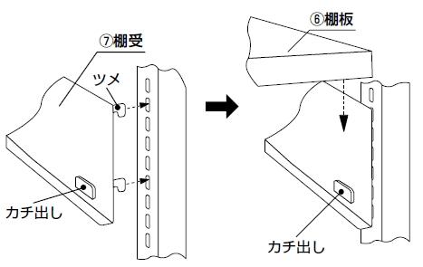 ホワイトラック書架KCJA組み立て工程5