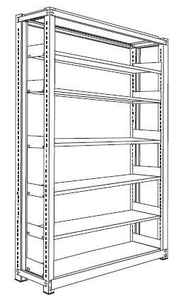 ホワイトラック書架KCJA組み立て工程6