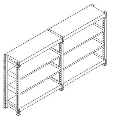 中軽量スチール棚(連結棚)組み立て工程10