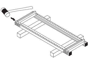 中軽量スチール棚組み立て工程2−1