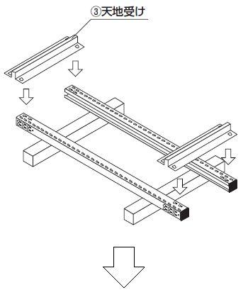 中軽量スチール棚組み立て工程2