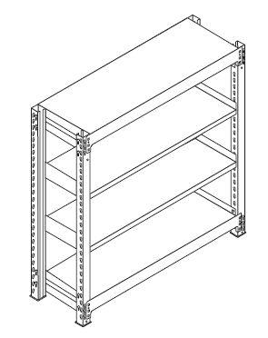 中軽量スチール棚組み立て工程6