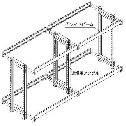 中軽量スチール棚(連結棚)組み立て工程8