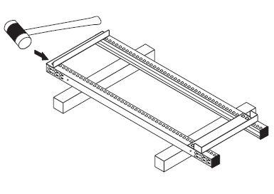 中量スチール棚組み立て工程2−1