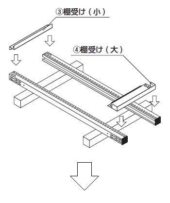 中量スチール棚組み立て工程2
