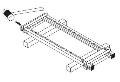 中量スチール棚(連結棚)組み立て工程6−1