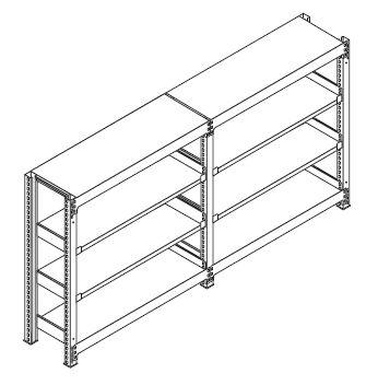 中量スチール棚(連結棚)組み立て工程9