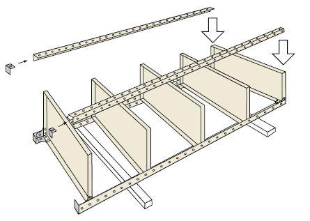 オープン棚・金網棚組み立て工程4