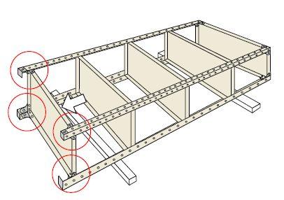 オープン棚・金網棚組み立て工程5