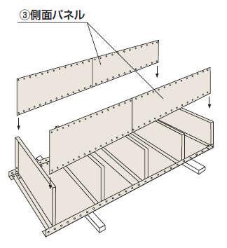 パネル棚組み立て工程2−1