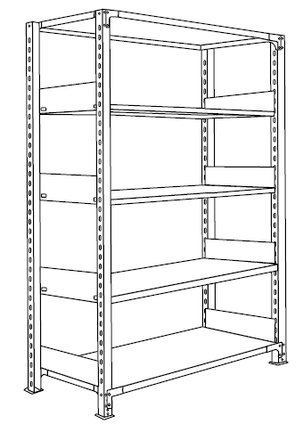 ホワイトラック書棚KU組み立て工程5