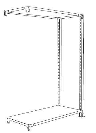 ホワイトラック書棚KU組み立て工程6