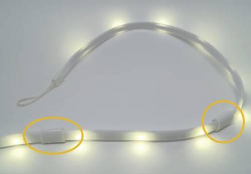 マグネット式のロープ型LEDライト。マグネット式なのでスチール棚にもくっつきます。画像2