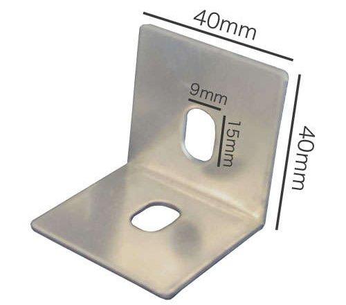 両穴ベースプレートの実寸法