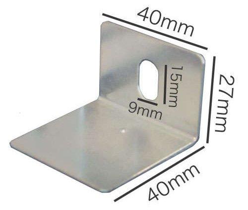片穴ベースプレートの実寸法
