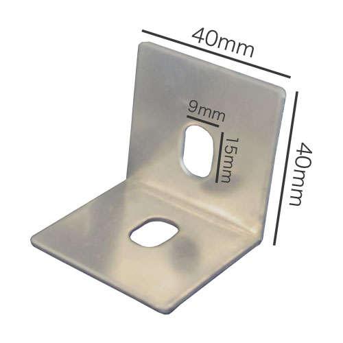 両穴タイプのベースプレートの寸法図