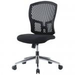 チェア(椅子) 井上金庫(イノウエ) 樹脂メッシュチェア スチールメッキ脚タイプ D4C-07M 肘なし