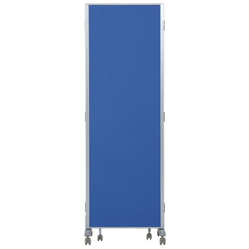 パーティション(間仕切り) 3連パーティション 三つ折りパネル RM3-CBL 布ブルーパネル